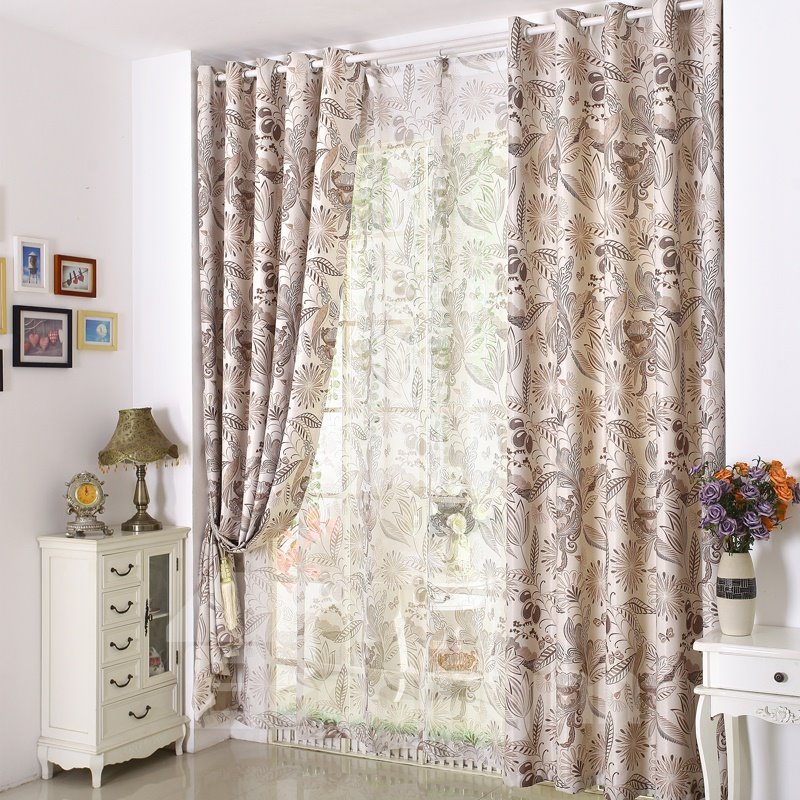Hot Selling Rich Pattern Solid Blackout Linen Custom Made Curtain
