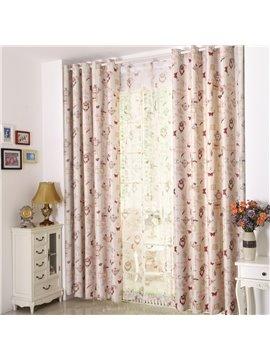 Unique Multi-Element Design Printing Linen Custom Curtain