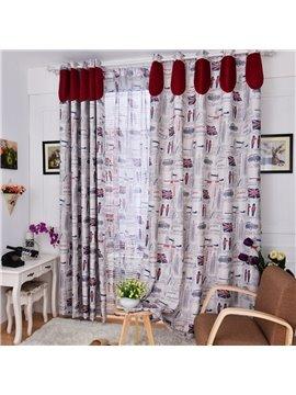 Hot Selling London Style Light Insulation Linen Custom Made Curtain