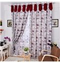 Hot Selling London Style Light Insulation Linen Custom Made Curtain
