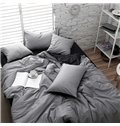 Modern Black and White Small Plover Case Print 4-Piece Cotton Duvet Cover Sets