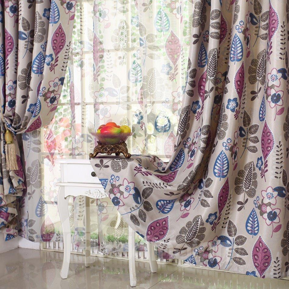 Thickening Linen Blackout Custom Made Curtain
