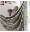 Fabulous Floral Printing Linen Custom Grommet Top Curtain