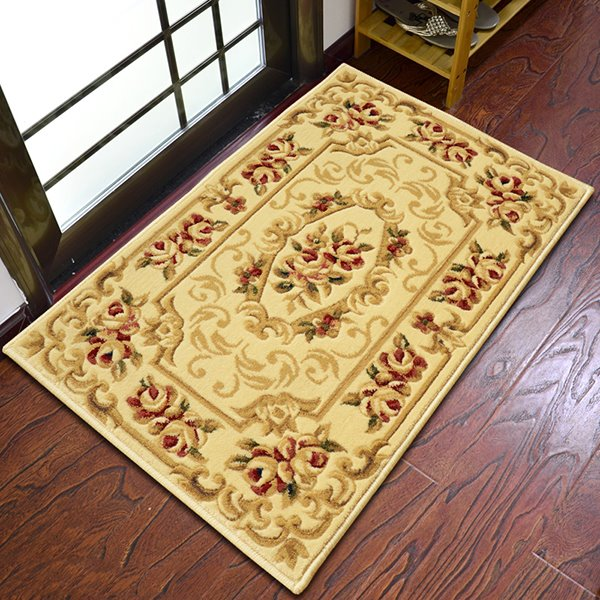 European Style High-Grade Imitation Wool Cut Flower Area Rugs