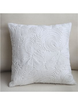 Luxury Hand Made European Style Pure White Throw Pillow