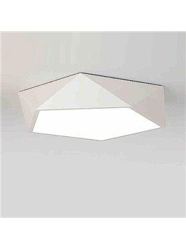 Beautiful Fantastic White Electroplated Finish Polygon Shape Flush Mount