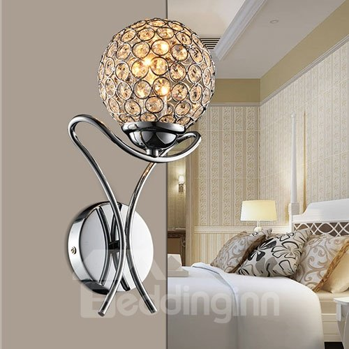 Gorgeous Fantastic Stainless Steel and Crystal Wall Lights