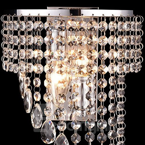 Graceful Amazing Stainless Steel and Crystal Electroplated Finish Ceiling Lights