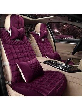Super Warm Solid Color Velvet Material Car Seat Cover