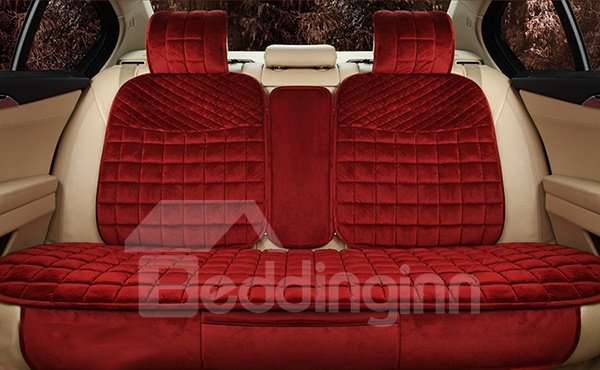 Super Warm Solid Color Velvet Material Car Seat Cover