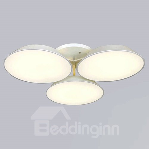 Wonderful Design White Alloy 3 Heads Electroplated LED Flush Mount