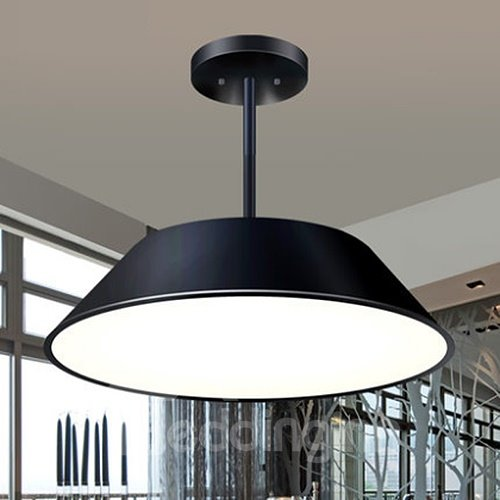Modern Simple Alloy Electroplated Finish LED Flush Mount