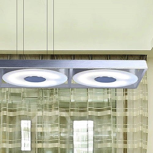 White Pretty Alloy Electroplated Finish 3-Heads LED Pendant Lights