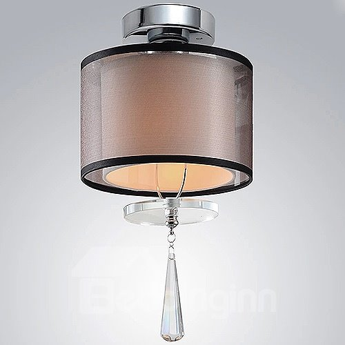 Pretty Classic Design Electroplated Finish Cylinder Shape Flush Mount
