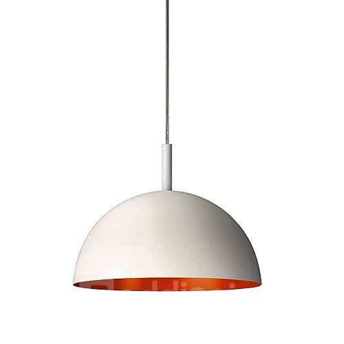 Beautiful White Electroplated Finish Semi-circle Pendant Lights