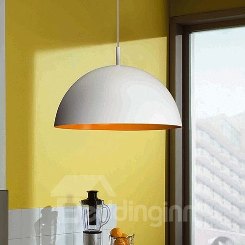 Beautiful White Electroplated Finish Semi-circle Pendant Lights