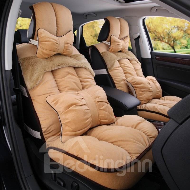 Silken and Comfortable Patch Short Plush Material Car Seat Cover
