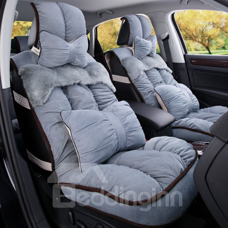 Super Warm and Comfortable Patch Short Plush Material Car Seat Cover