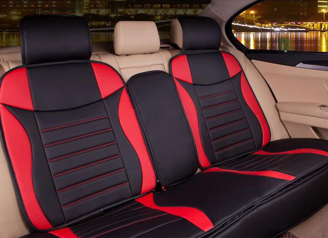 Sports Style Stylish And Attractive PU Leatherette Material Five Universal Car Seat Covers
