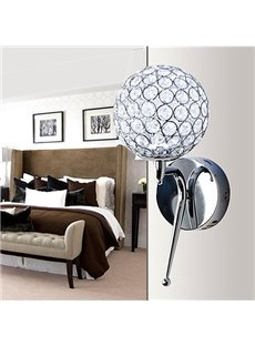 Pretty Round Alloy and Crystal Decorative Wall Light