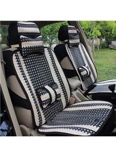 Simple Style Refreshing Cool Ice Silk Material Universal Five Car Seat Cover