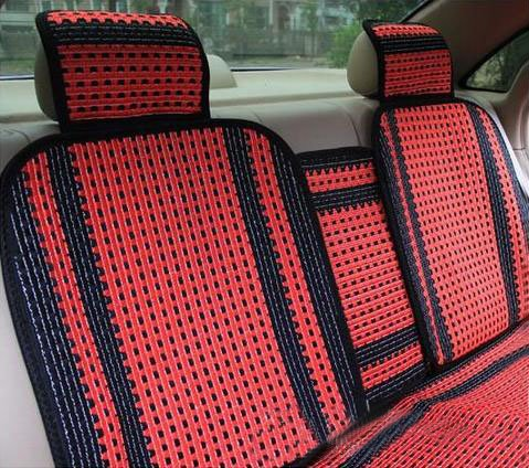 Simple Style Cool Ice Silk Material Universal Five Car Seat Cover