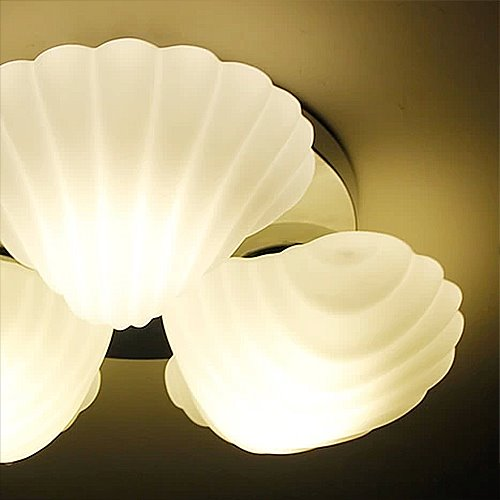 Beautiful Sea Shells High Quality Flush Mount