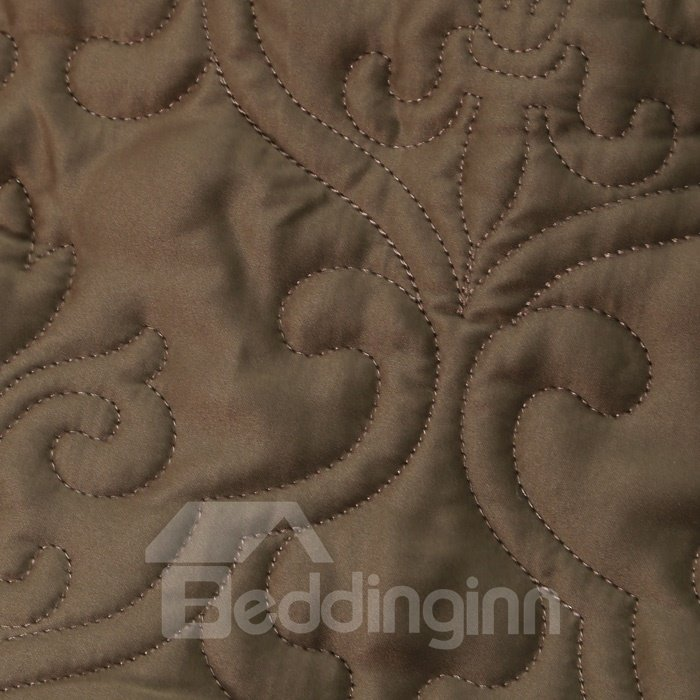 European Style Solid Coffee Color Super Soft Bed in a Bag Set