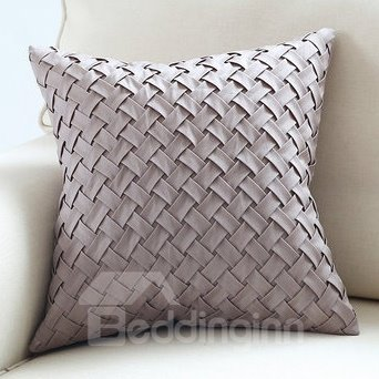 European Style Solid Color Weave Throw Pillow