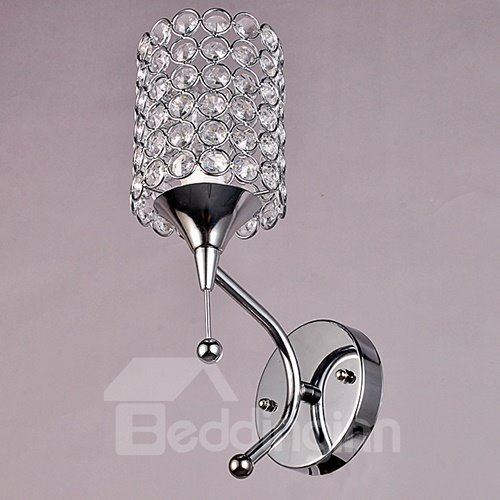 Unique Design Alloy and Crystal 1 Head Wall Light