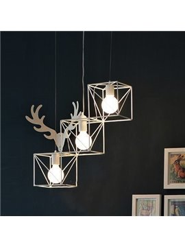 Unique Design Modern Alloy 3-head Pendant Lights