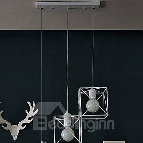 Unique Design Modern Alloy 3-head Pendant Lights