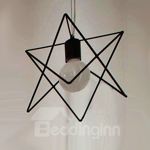 Beautiful Alloy 3-Heads Polygon Shape Pendant Lights