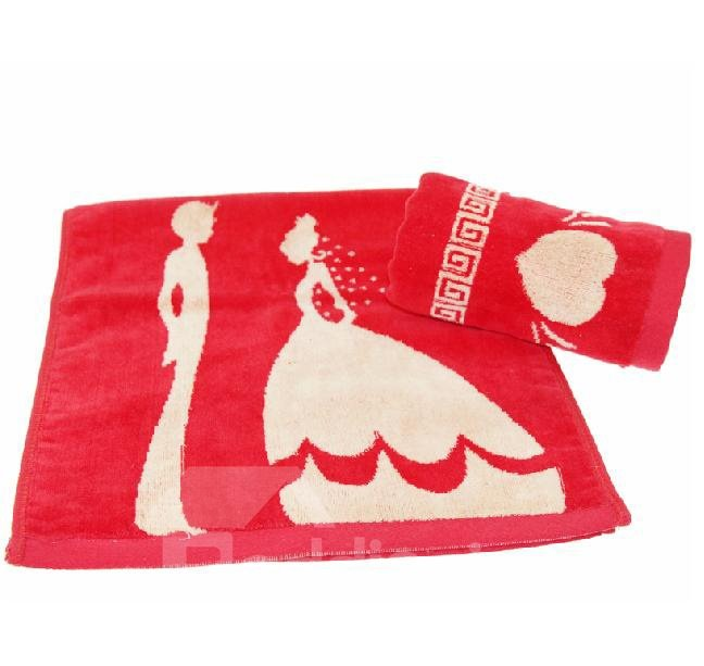 Fancy Jubilant Wedding Printing Full Cotton Towel