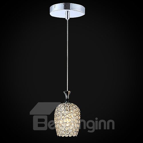 Delicate 1-Head Alloy and Crystal Pendant Light