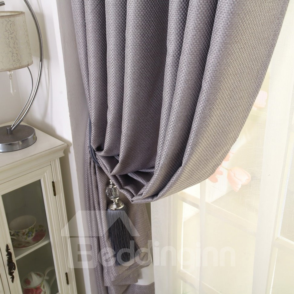 Modest Home Fashion Grey Color Functional Blackout Curtain