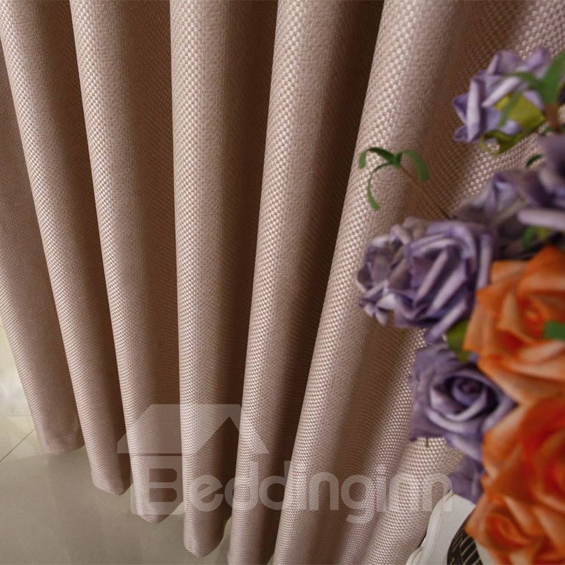 Top Quality Elegant Simple Color Scheme Custom Made Curtain