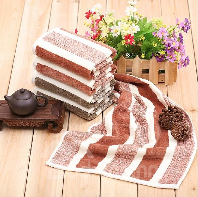 Modern Fashion Stripe Pattern Full Cotton Towel