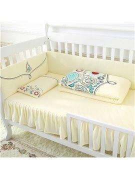 Warm and Comfortable Super Soft Elegant Yellow Crib Bedding Sets