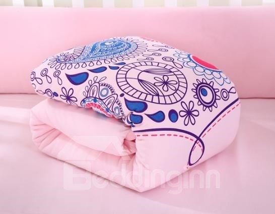 Romantic Dew Pattern Super Comfortable Solid Pink Crib Bedding Set