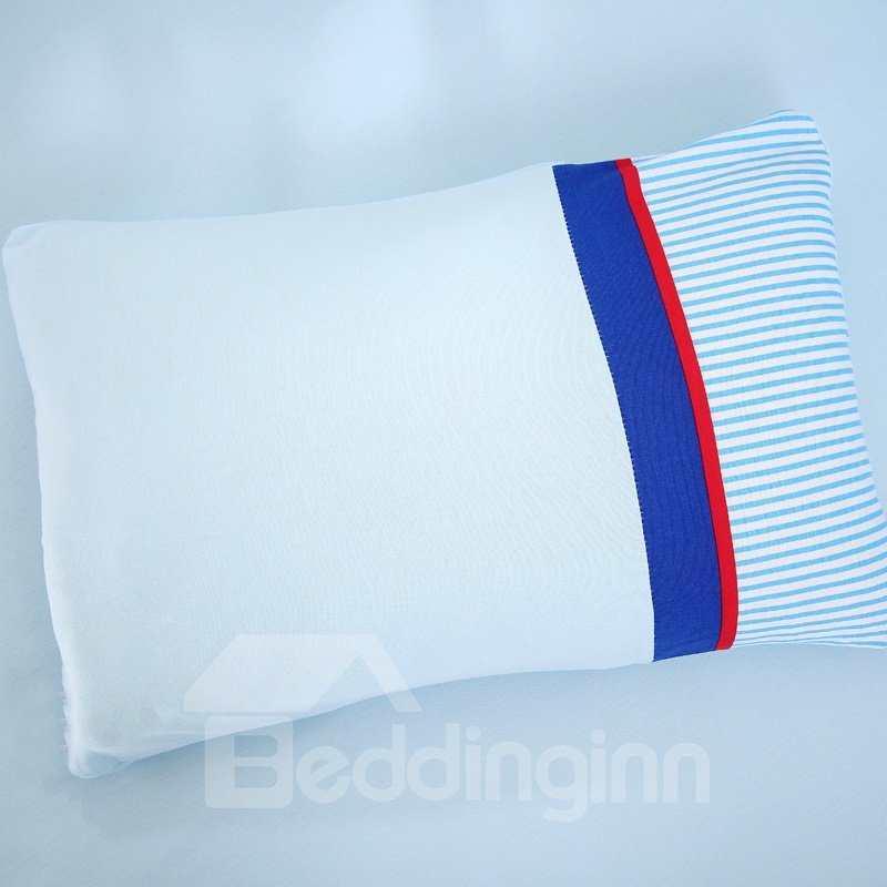 Health Care Buckwheat Shell Fillings Colored Stripes Baby Pillow