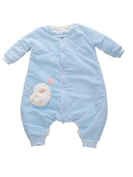 Beautiful High Quality Blue Short Plush Baby Sleeping Bag