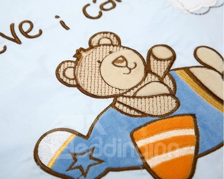Fantastic Sunshine Bear Printing 12-piece Crib Bedding Sets