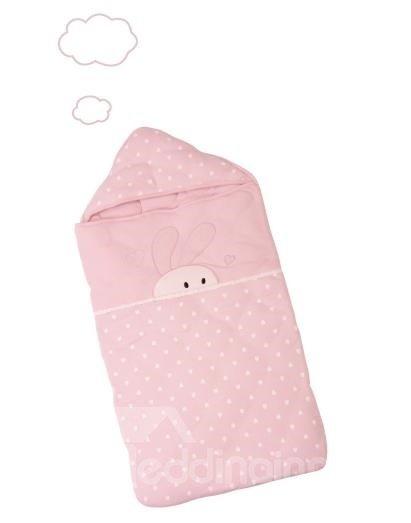 Cozy Sweet Pink Rabbit Design Baby Quilt
