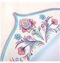 Beautiful Flower Embroidery Pattern Super Soft Cotton Crib Bedding Set