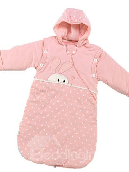 Super Soft Rabbit Stars Pink Baby Sleeping Bag