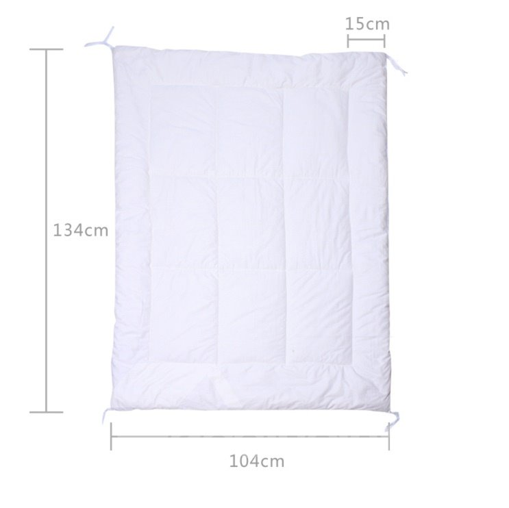 Warm White Natural Colored Cotton Baby Quilt
