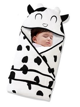 New Arrival Lovely Cow Shape Cotton Baby Sleeping Bags