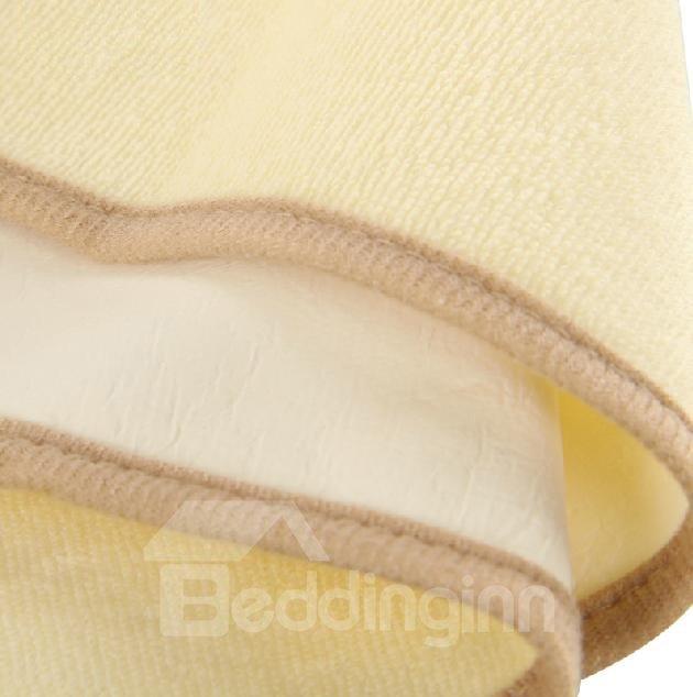 Novel Elephant Pumpkin Printing Yellow Baby Blanket