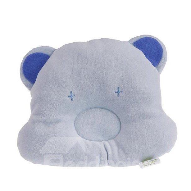 Super Comfortable Blue Bear Design Baby Pillow